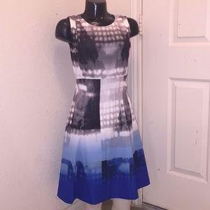 Calvin Klein Multi Color Flare Dress